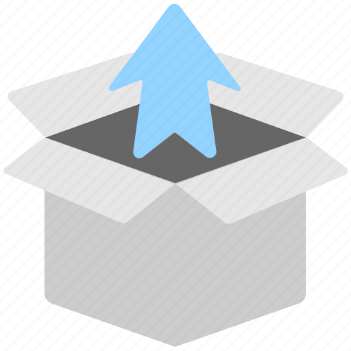 arrow, box, outbox, package, upload icon
