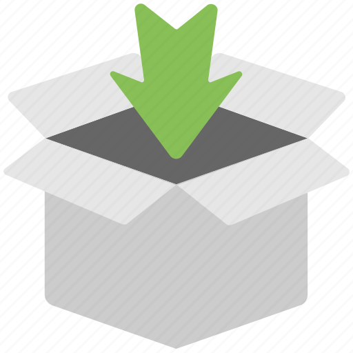 box, download, inbox, package, ui icon