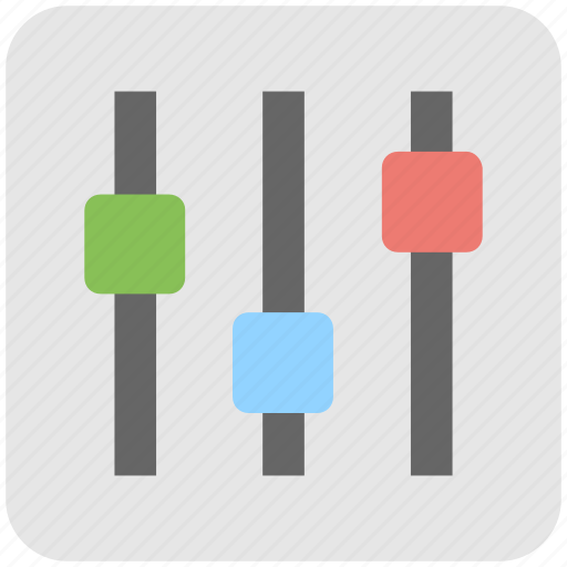 adjuster, equalizer, multimedia, preferences, sound settings icon