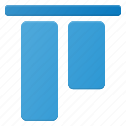 align, object, top icon