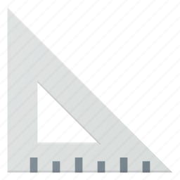 measure, ruler, tool, triangle, triangular icon