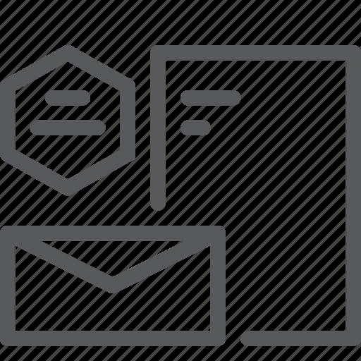 branding, company, design, document, envelope, logo, startup icon
