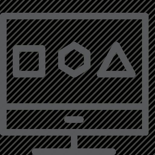 computer, concept, design, graphics, monitor, pc, tool icon