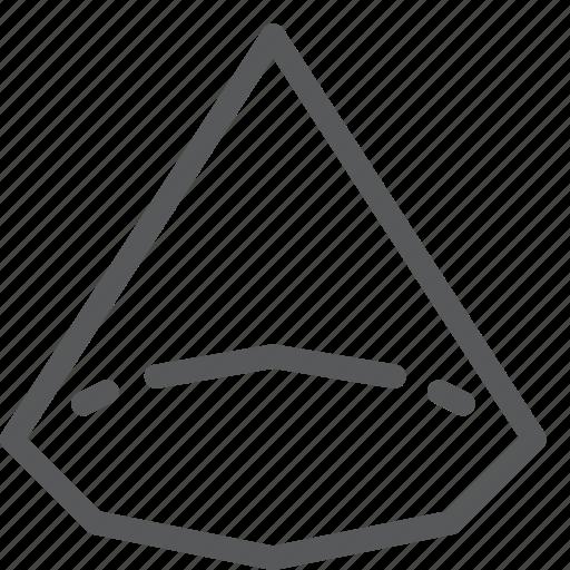 cone, design, figure, geometry, math, shape, tool icon