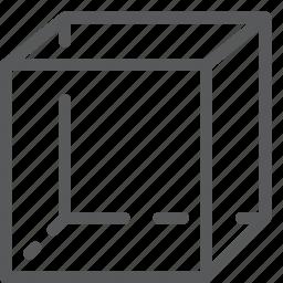 cube, design, figure, geometry, math, shape, tool icon