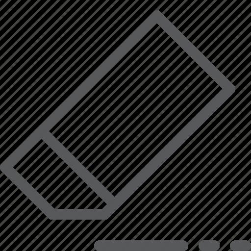 delete, design, eraser, remove, rubber, stationery, tool icon