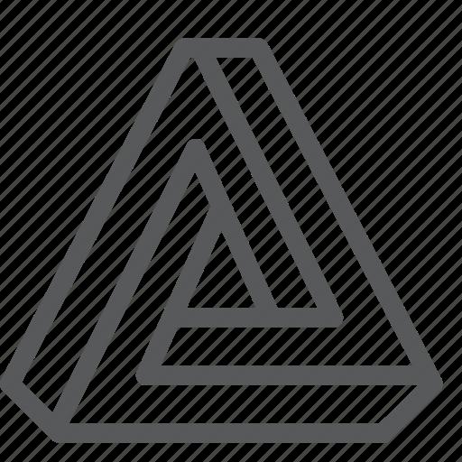 illusion, infinite, penrose, tool, triangle icon