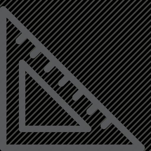 design, geometry, math, measure, ruler, shape, tool icon