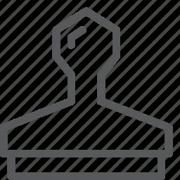 art, clone, design, pattern, press, stamp, tool icon