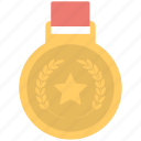 badge, medal, prize, ranking, winner icon