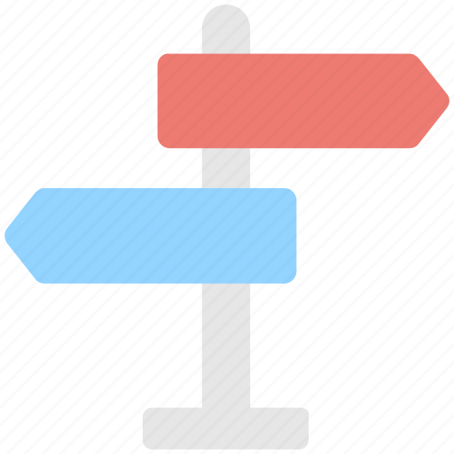 direction, fingerpost, guidepost, road sign, signpost icon