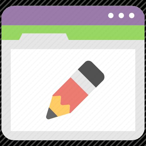 drawing, edit, pencil, web, web designing icon