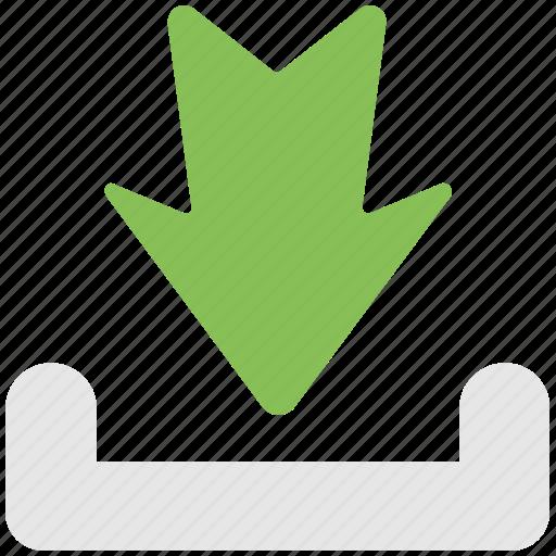 arrow, down, download, inbox, ui icon