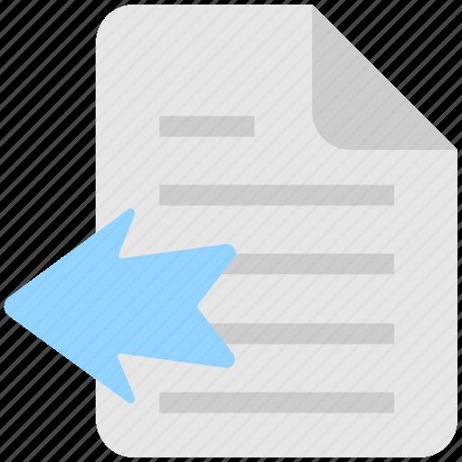 arrow, document, file, import file, move icon