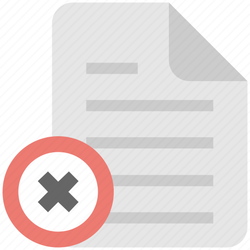 delete, delete file, document, file, remove icon