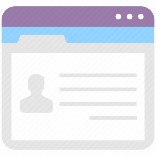 account, online, profile, user, web icon