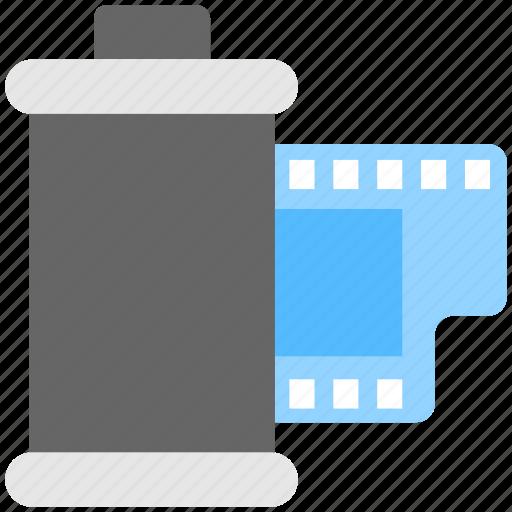 camera reel, film cartridge, negatives, photography, reel icon