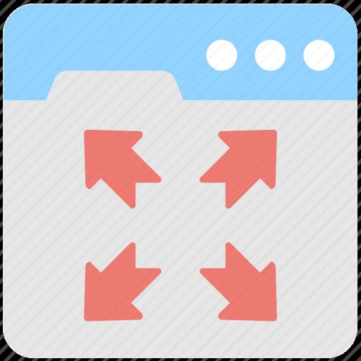 arrows, expand, fullscreen, maximize, resize icon