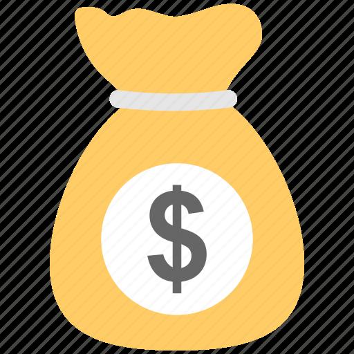 dollar, finance, money, money sack, sack icon