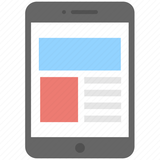 layout, mobile, mobile interface, smartphone, template icon