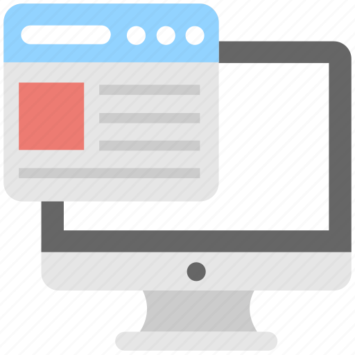 adaptive, monitor, responsive, web, website icon