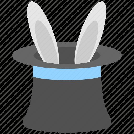 bunny, magic, magic hat, magician, rabbit icon