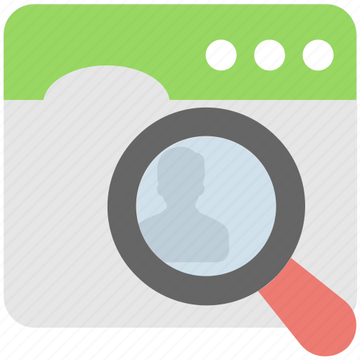 browser, magnifier, web, web page, website icon