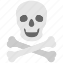 bones, danger, death, skeleton, skull icon