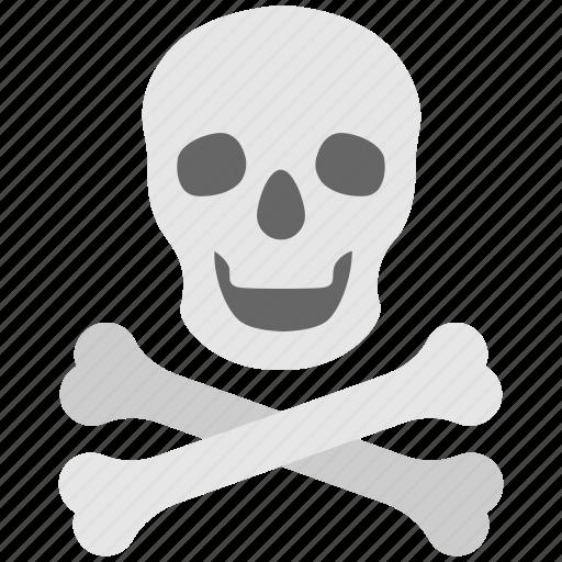 bones, danger, death, skeleton, skull icon