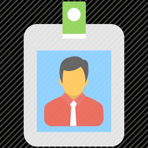 badge, employee card, id card, identity, identity card icon
