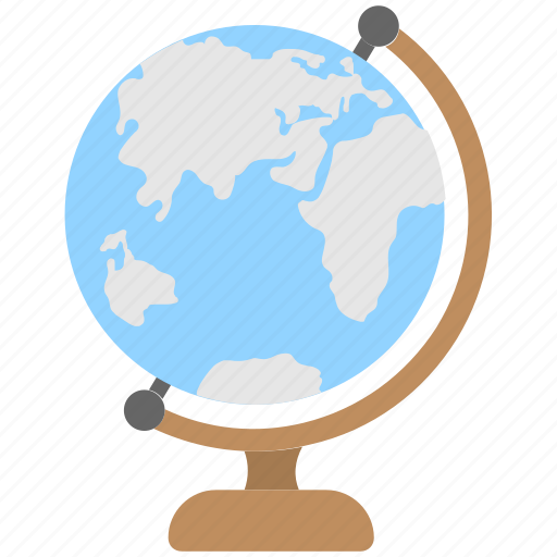 geography, globe, map, office supplies, table globe icon