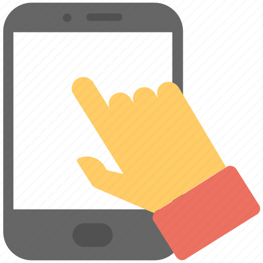click, hand, interface, mobile, smartphone icon