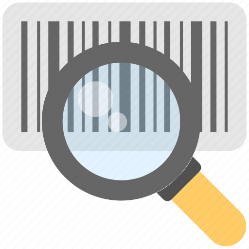 barcode, barcode scanner, magnifier, scanner, upc icon