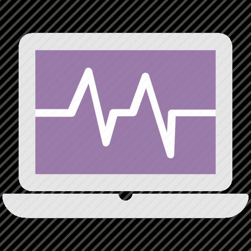 cardiology, ecg, ecg machine, ekg, heartbeat icon