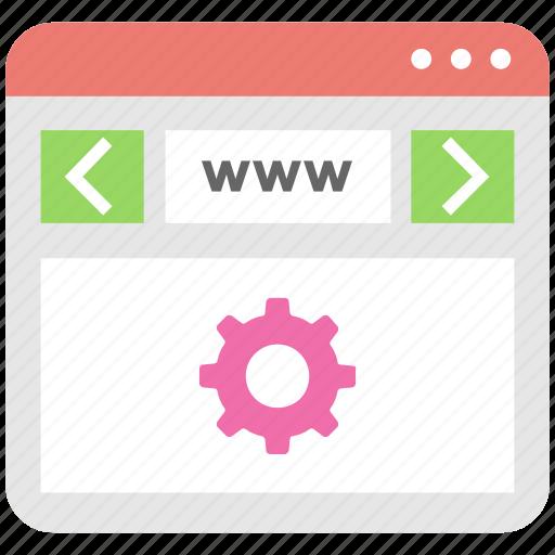 cog, optimization, settings, web, web setting icon