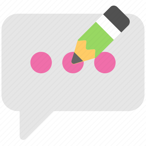 chat bubble, chatting, sms, text message, write message icon