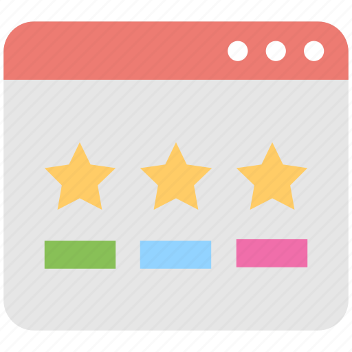 ranking, rating, review, seo, website icon