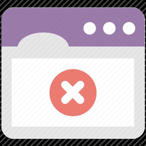 close tab, close window, cross, delete, web icon