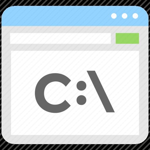 computing, path, programming, tab, web icon