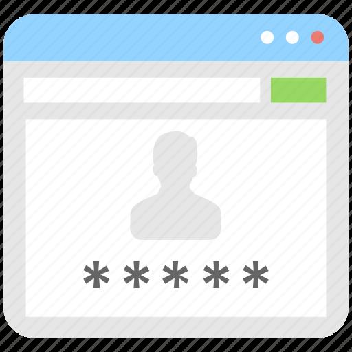 access, account, login, password, profile icon