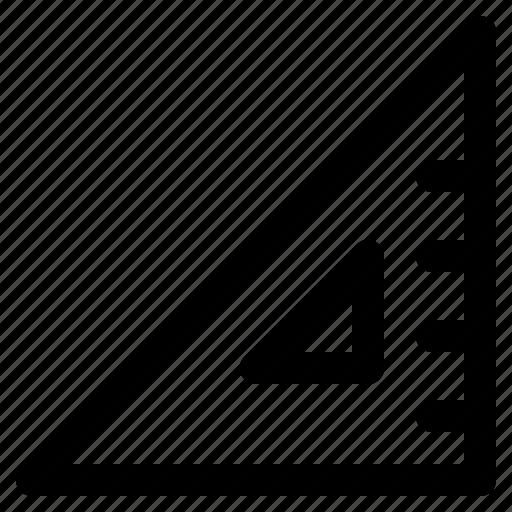design, geometry, measure, ruler, tool icon