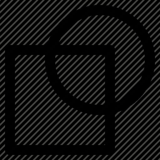 circle, design, geometric, shape, square icon