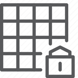 action, design, direction, grid, lock, move, protect, safe icon