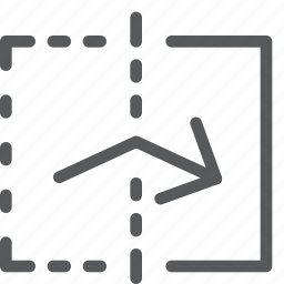 action, arrow, design, direction, flip, move, reflect, right icon