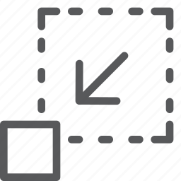 action, arrow, design, direction, minimize, move, shrink icon