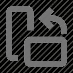 arrow, create, design, flip, left, rotate left, tool, up icon