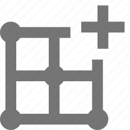 add, grid, layout, new, plus icon