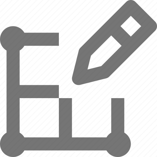 create, design, edit, grid, layout, pencil, tool, write icon
