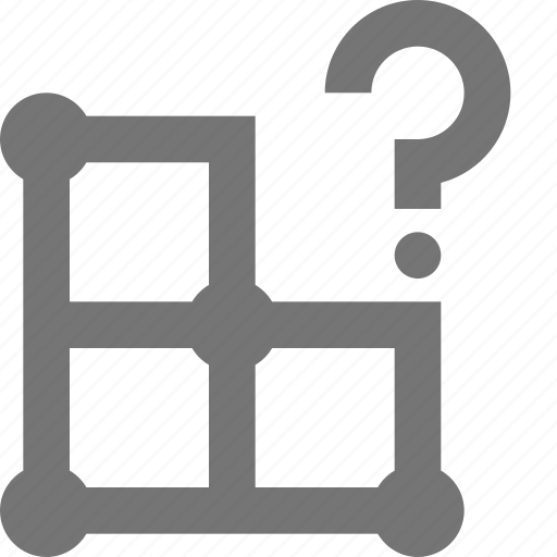 create, design, grid, help, issue, layout, question, tool icon
