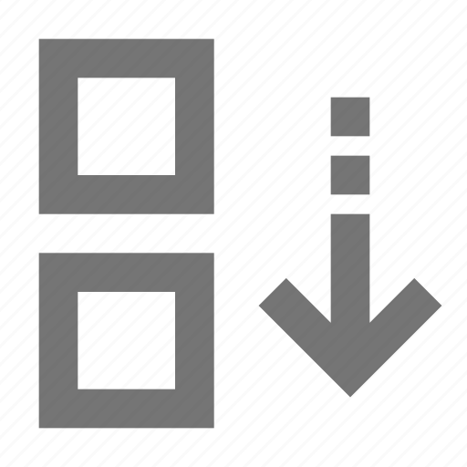 arrow, bottom, down, move icon